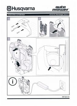 fahrzeuge und motorger te richter gmbh automower husqvarna wandhalter f r auto mower 320 und. Black Bedroom Furniture Sets. Home Design Ideas